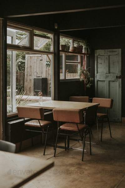 Rustic cool cafe