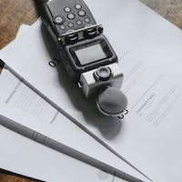 Sound recorder for a podcast