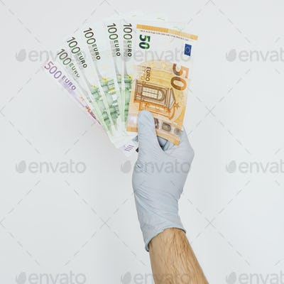 Man receiving financial support during the COVID-19 pandemic