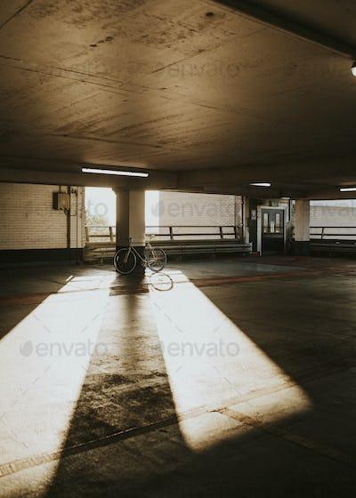 Empty indoor parking lots during the Coronavirus pandemic in UK