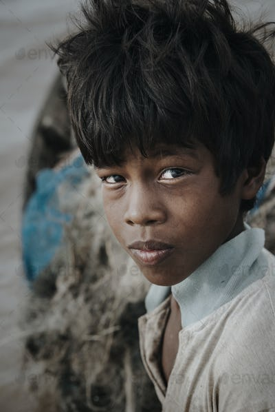 Portrait of a Cambodian boy