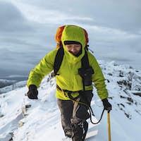Winter hike at Torridon background