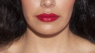 Closeup portrait of a beautiful model