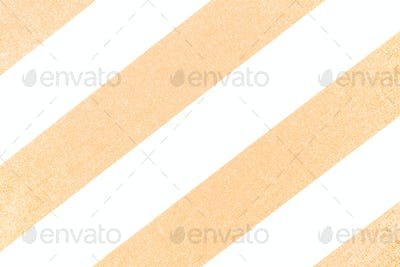 Yellow and white striped fabric with textured background