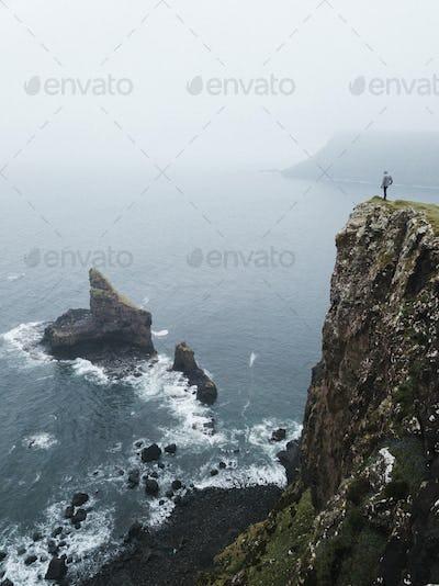 Traveler at Talisker Bay