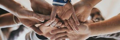 Community of people teamwork