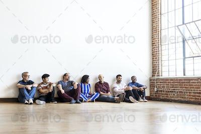 People sitting on the floor
