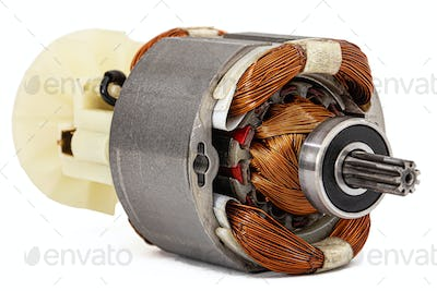 Electric motor isolated on a white background