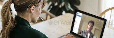 Woman working from home during coronavirus pandemic