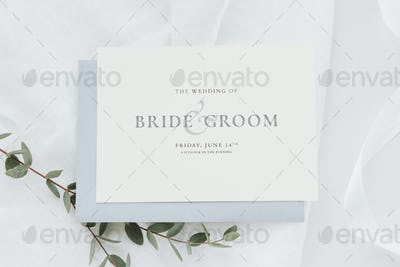 Wedding invitation with flower decoration