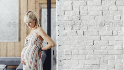 Woman with a baby bump