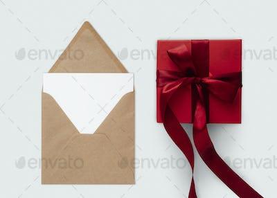 Valentine's gift box psd