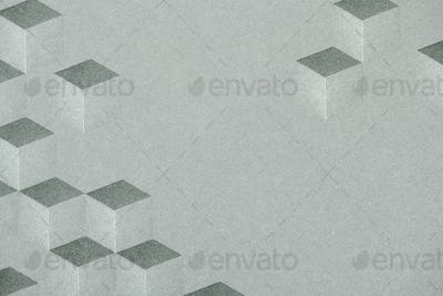 Gray cubic patterned background