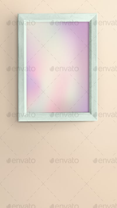 Green photo frame mockup