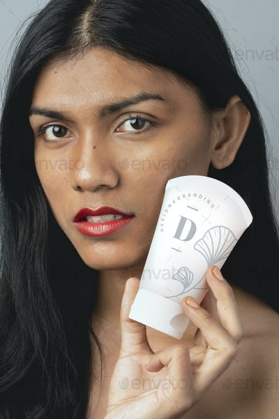 Facial cream tube mockup