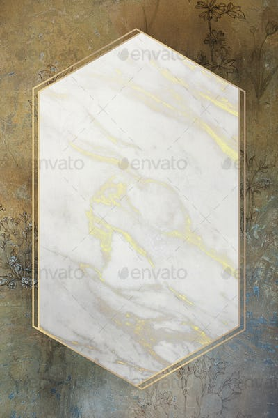 Frame on a textured background