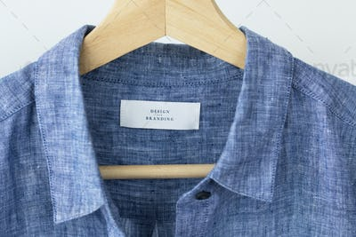 Blue design and branding shirt mockup