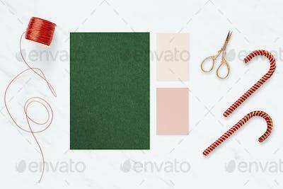 Seasonal greeting card template