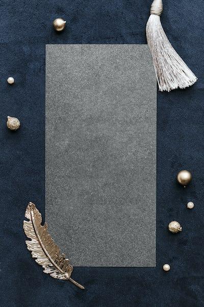 Blank festive rectangle frame design