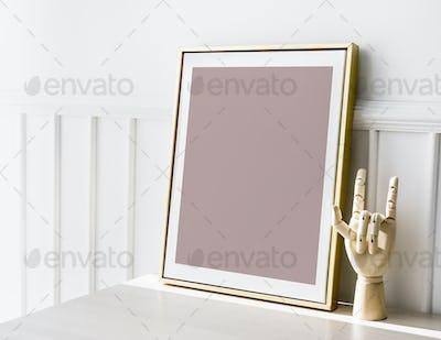 A golden frame mockup