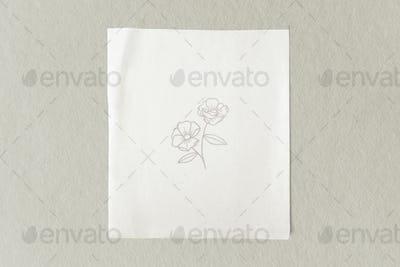 Blank plain white paper template