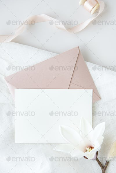 Invitation card with flower decoration
