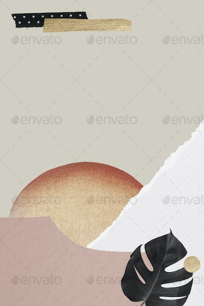 Vintage pastel collage style banner template