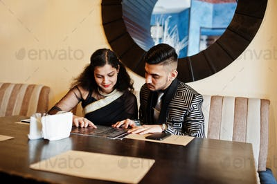 Lovely indian couple in love