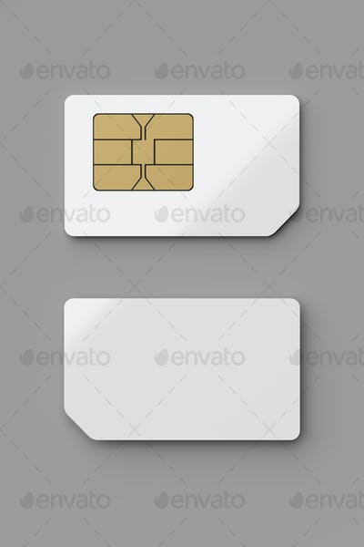 SIM card with precut micro and nano sizes