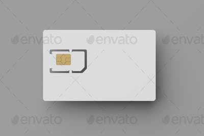 SIM card with precut micro and nano sizes on gray background