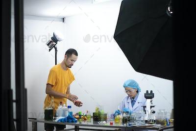 Photo behind the studio shooting