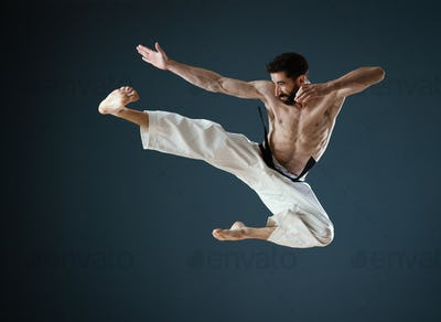 Karateka Sensei at work