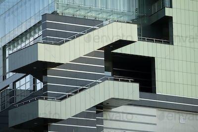 Green Office Building Balcons