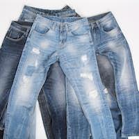 Various Denim Pants or Blue Jeans