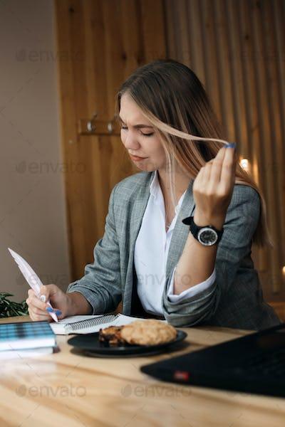 Laziness, procrastination, Self-Control. Students or workers Procrastinate. Bored Lazy student girl