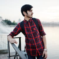 Young indian student man