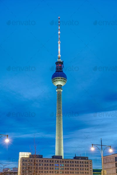 The famous Televison Tower at twilight