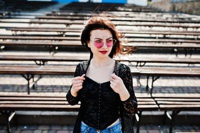Spring portrait of brunette girl