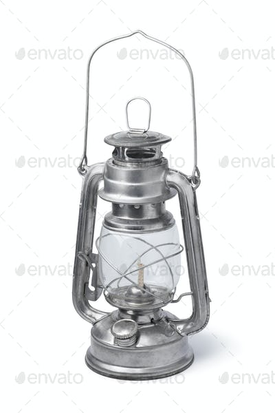 Classic oil lamp isolated on white background