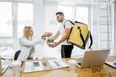 Delivering business lunches for the office workers