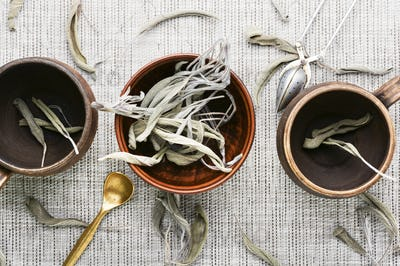 Dried salvia or sage