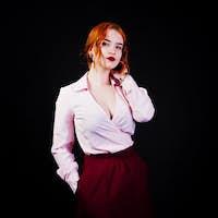 Portrait of a fantastic redheaded girl