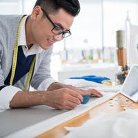 Drawing sewing pattern