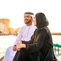 Arabian couple dating in Dubai
