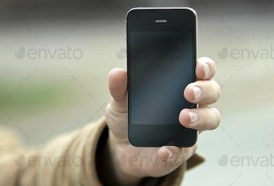 Phone at hand