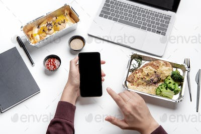 Review and rating for food delivery service to home and office during covid-19 virus
