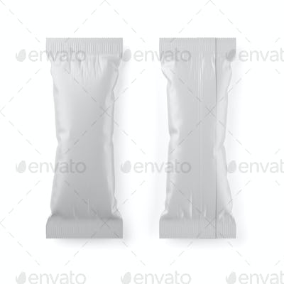 Ice-cream bar popsicle clean package isolated. 3D rendering illustration