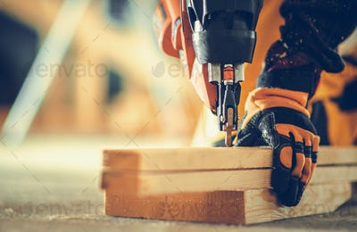 Powerful Nail Gun Construction Job