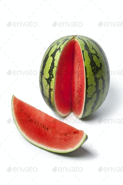 Whole and partial water melon