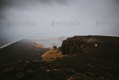 Explorer on the icelandic tour, traveling across iceland discovering natural destinations